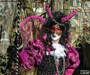 Karneval-Kleid Rosa puzzle