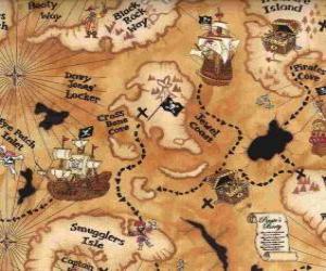 Karte du schatztruhe puzzle