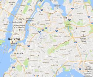 Karte von New York puzzle