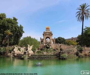 Kaskade von Parc De La Ciutadella, Barcelona puzzle