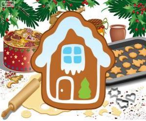 Kekse Weihnachtshaus geformt puzzle