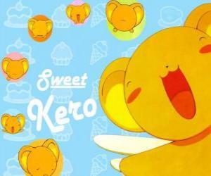 Keroberos oder Kero ist der bestellte Vormund des Buches, die Clow Cards hält puzzle