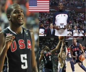 Kevin Durant den Most Valuable Player Award in der Basketball-Weltmeisterschaft 2010 puzzle