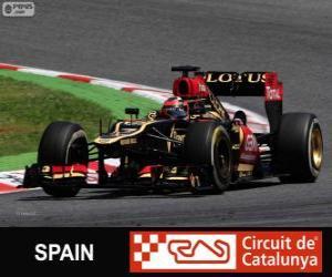 Kimi Räikkönen - Lotus - 2013 spanischen Grand Prix, 2 º klassifiziert puzzle