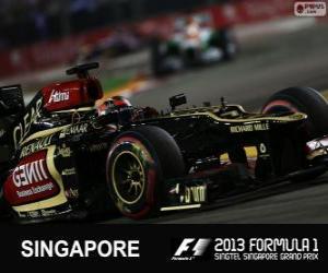 Kimi Räikkönen - Lotus - 2013 Singapur Grand Prix, 3. klassifiziert puzzle