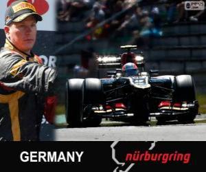 Kimi Räikkönen - Lotus - German Grand Prix 2013, 2 º klassifiziert puzzle