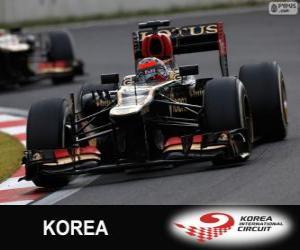 Kimi Räikkönen - Lotus - Großer Preis von Korea 2013, 2 º klassifiziert puzzle