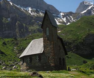 Kirche des hohen Berg, Schweiz puzzle