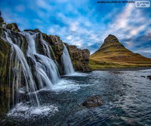 Kirkjufellsfoss, Island puzzle