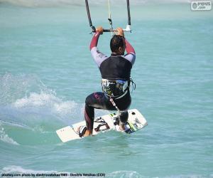 Kitesurfen, auch Kiteboarden puzzle