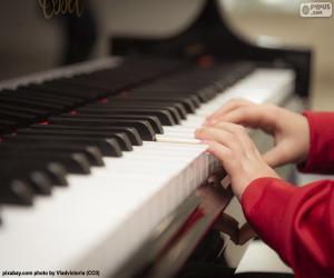 Klavier spielen puzzle