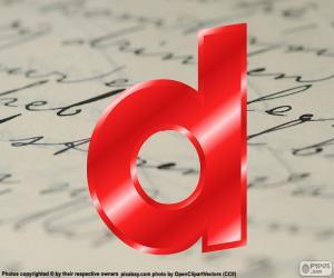 Kleinbuchstaben Buchstabe d puzzle