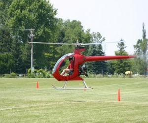 Kleine Hubschrauber mit Piloten puzzle
