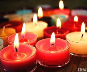 Kleine Kerzen, Weihnachten puzzle