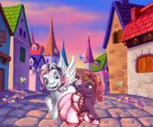 Kleine Ponys in der Stadt puzzle