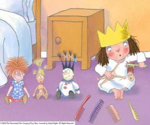 Kleine Prinzessin Kämmen ihre Puppen puzzle