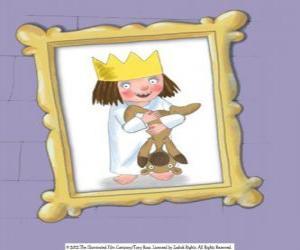 Kleine Prinzessin und ihr Teddybär puzzle