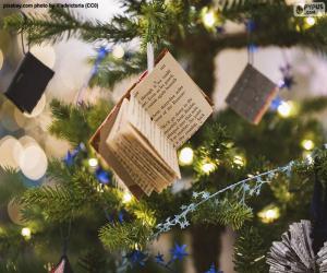 Kleine Weihnachtsverschönerung Bücher puzzle