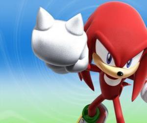 Knuckles Echidna, Rivalen und Freund von Sonic puzzle