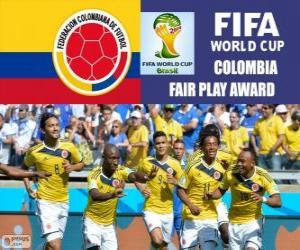 Kolumbien, Fairplay-Preis. Brasilien 2014 FIFA Fußball-Weltmeisterschaft puzzle