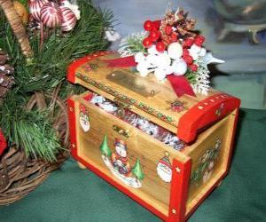 Kommode mit Weihnachtsmotiven dekoriert puzzle