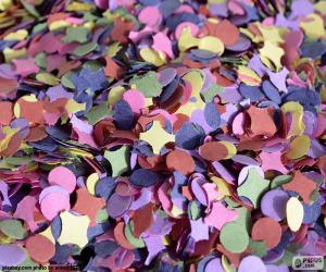 Konfetti von Farben puzzle