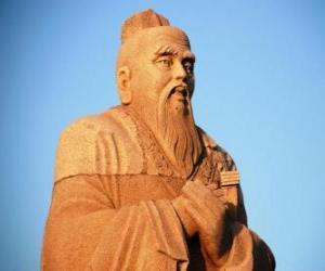 Konfuzius, chinesischer philosoph, begründer des Konfuzianismus puzzle