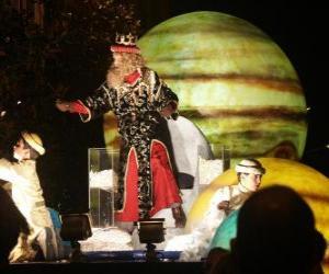 König Caspar in die Parade zu werfen Bonbons puzzle