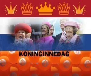 Koninginnedag oder Königinnentag, Nationalfeiertag in den Niederlanden am 30. April zur Feier des Geburtstages der Königin puzzle