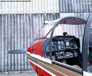 Kontrollen von einem Kleinflugzeug puzzle