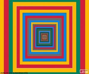 Konzentrische Quadrate puzzle