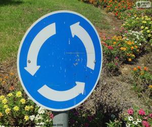 Kreisverkehr Zeichen puzzle
