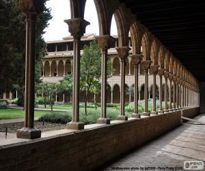 Kreuzgang des Klosters von Pedralbes puzzle