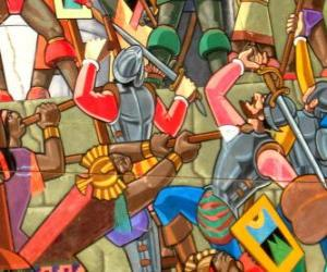 Krieger Kämpfe Inca puzzle