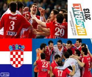 Kroatien, Bronzemedaille bei der Weltmeisterschaft im Handball 2013 puzzle