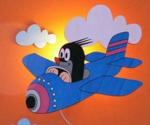 Krtek mit dem Flugzeug puzzle