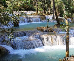 Kuang Si Wasserfälle, Laos puzzle