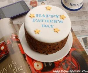 Kuchen des Tages der Vater mit Sternen puzzle