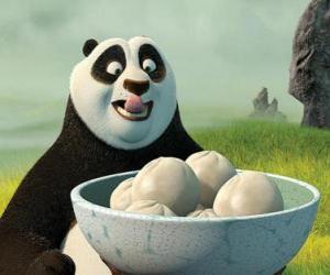 Kung Fu Panda will einige Kekse, Reis essen puzzle