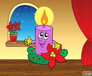 Lächelnd Weihnachtskerze puzzle