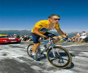 Lance Armstrong klettern berg puzzle