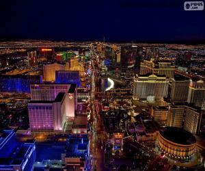 Las Vegas bei Nacht, Vereinigte Staaten von Amerika (USA) puzzle