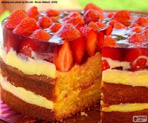 Leckere Erdbeere Kuchen puzzle