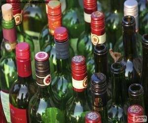 Leere Weinflaschen puzzle