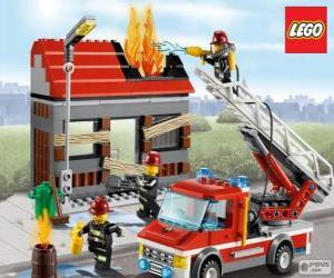Lego Feuerwehrleute puzzle