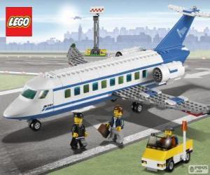 Lego passagierflugzeug puzzle
