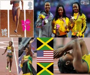Leichtathletik: 100 m Frauen London 2012 puzzle