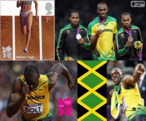 Leichtathletik 200 m Männer London 2012 puzzle