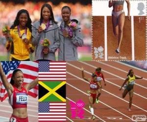 Leichtathletik 200m Frauen London 2012 puzzle