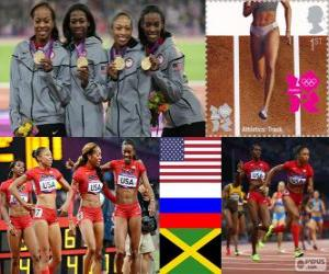Leichtathletik 4x400m Frauen London 2012 puzzle